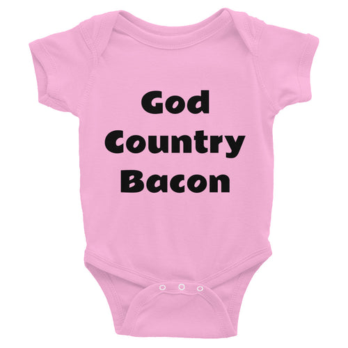 God Country Bacon Infant Bodysuit - Mr. Shazz