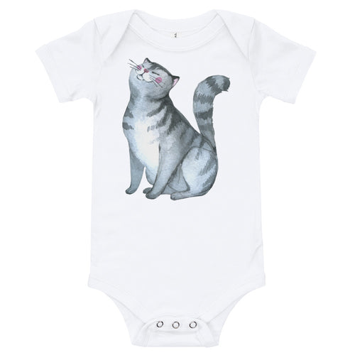 Pussy Cat Infant One Piece t-shirt Kitty Cat Baby Bodysuit