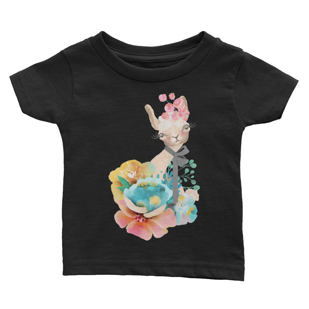 Pastel Flowers and Kitty Cat Baby shirt Kitten T-Shirt Infant Tee