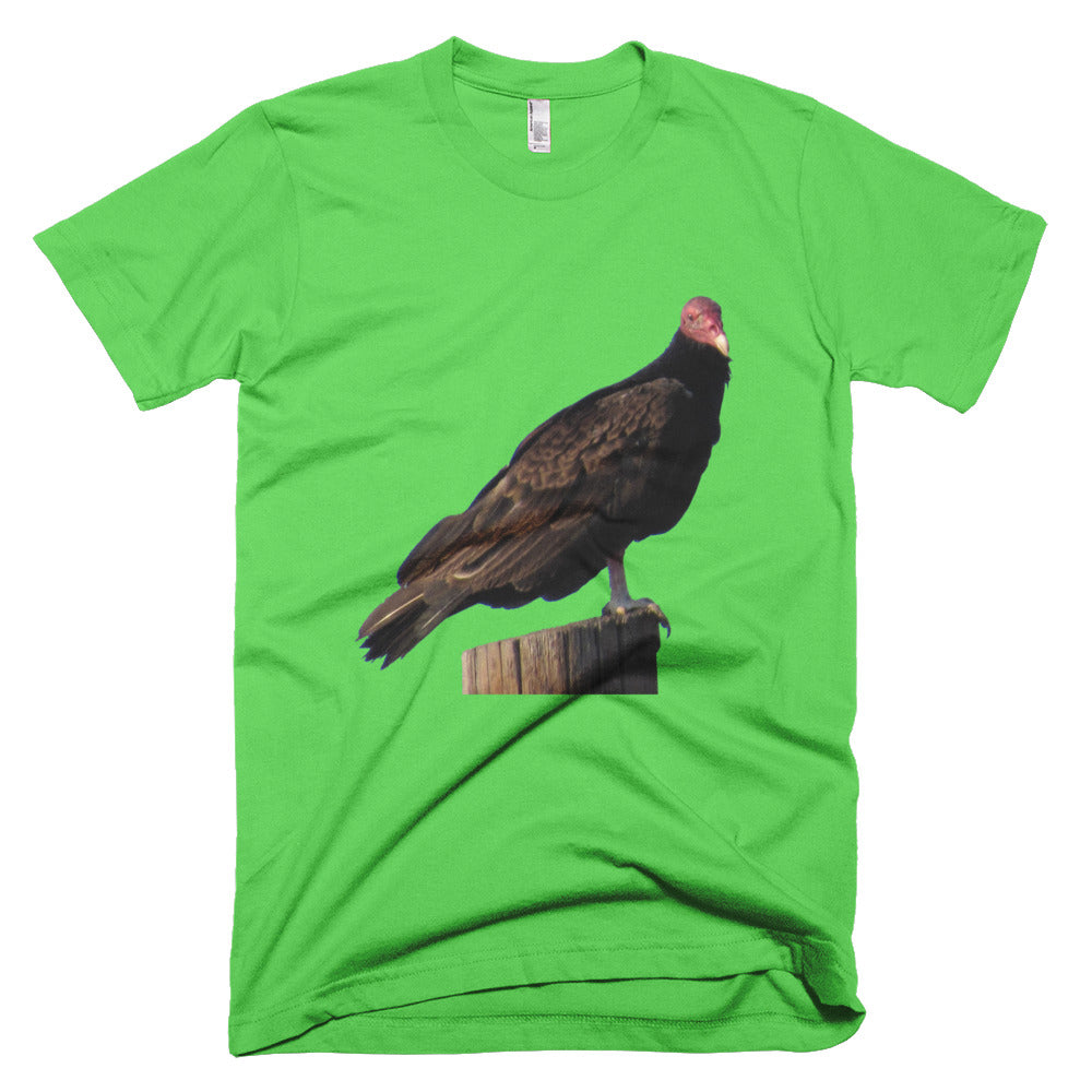 The Famous Grumpy Buzzard T-shirt.  It has a turkey buzzard on the front and the words Grumpy Buzzard on the back.  We have styles for everyone.