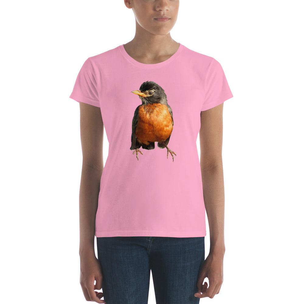 Robin Redbreast Ladies' t-shirt featuring Bob the Robin.  Only at MrShazz.com+