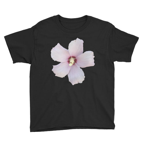 Rose of Sharon Flower Youth Short Sleeve T-Shirt
