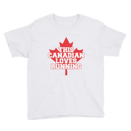 This Canadian Loves Running Youth Short Sleeve T-Shirt