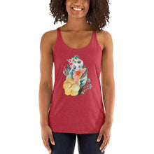 Soft Pastel Flowers and Cute Panda Bear Ladies' Tank Top Piglet Flower Women's Tank Top