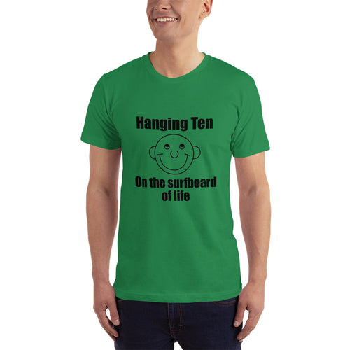Hanging Ten on the Surfboard of Life Men's Short-Sleeve T-Shirt Round Head Guy