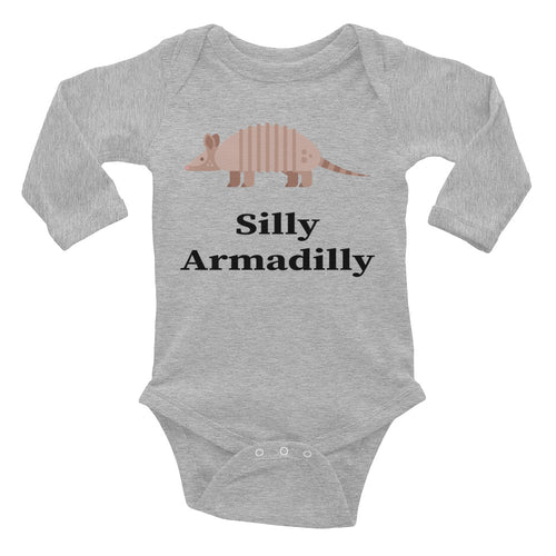 Silly Armadilly Armadillo Infant Long Sleeve Bodysuit