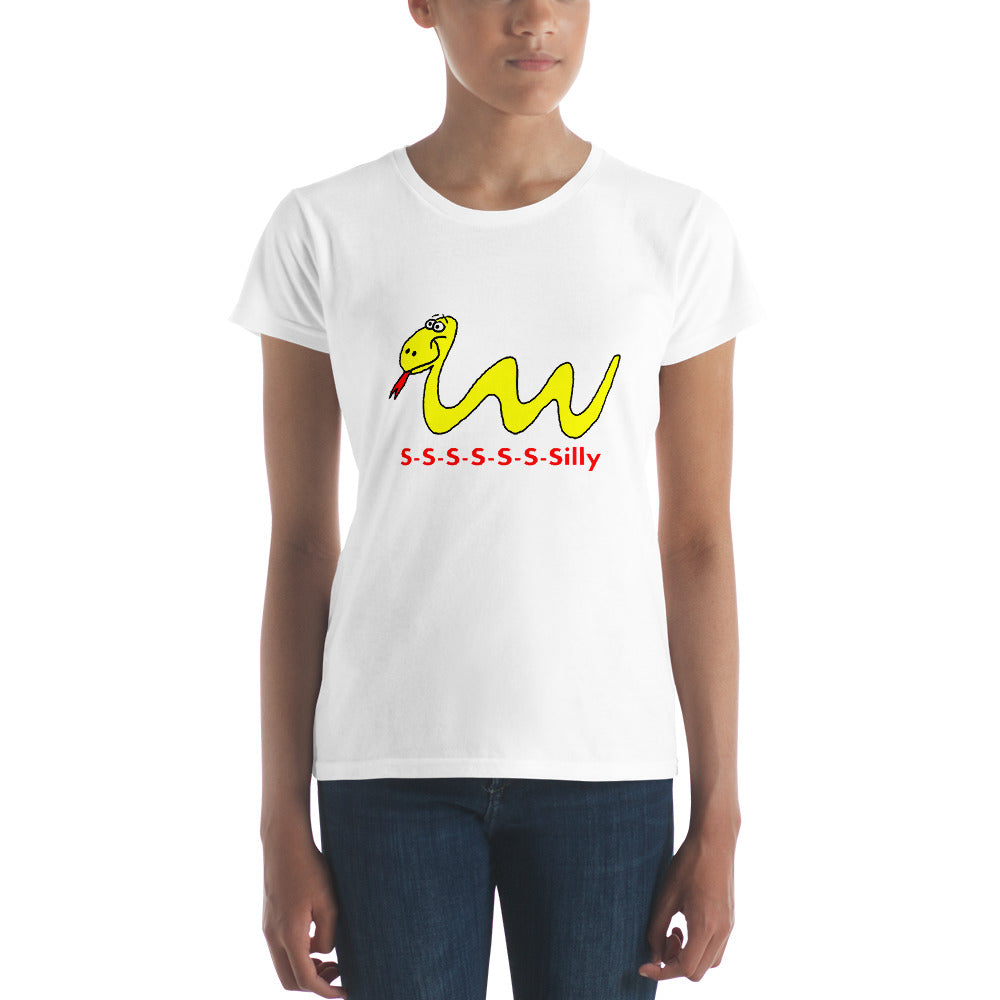 Our Silly Snake Women's t-shirt Many Sizes and Colors, Short Sleeve - Mr. Shazz