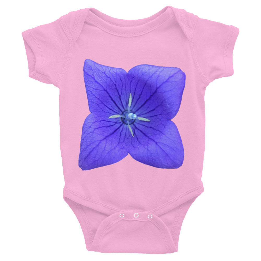 Beautiful Blue Balloon Flower Infant Bodysuit.  Available on styles for the whole family.  Only at MrShazz.com.