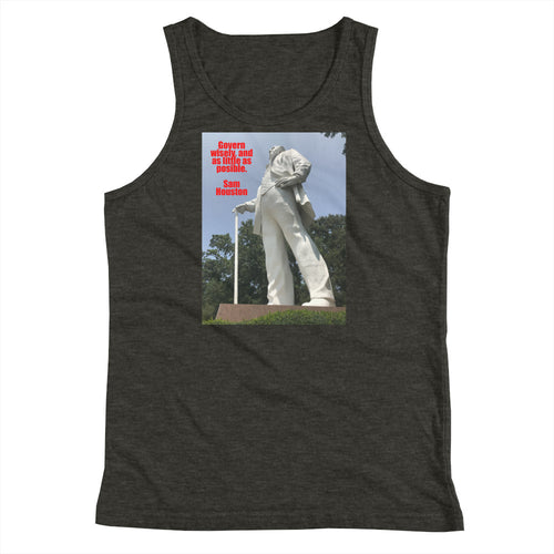 Govern Wisely, and as Little as Possible  Sam Houston quote Youth Tank Top