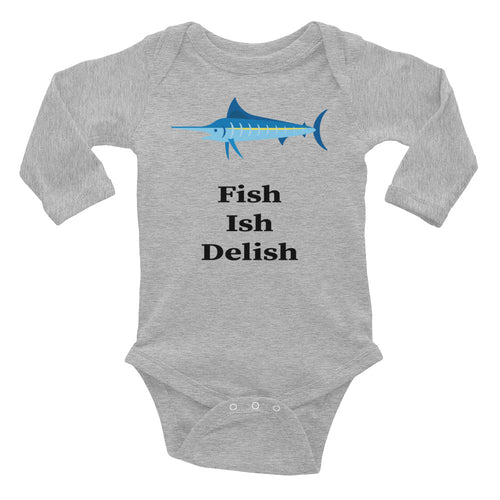 Fish Ish Delish Infant Long Sleeve Bodysuit