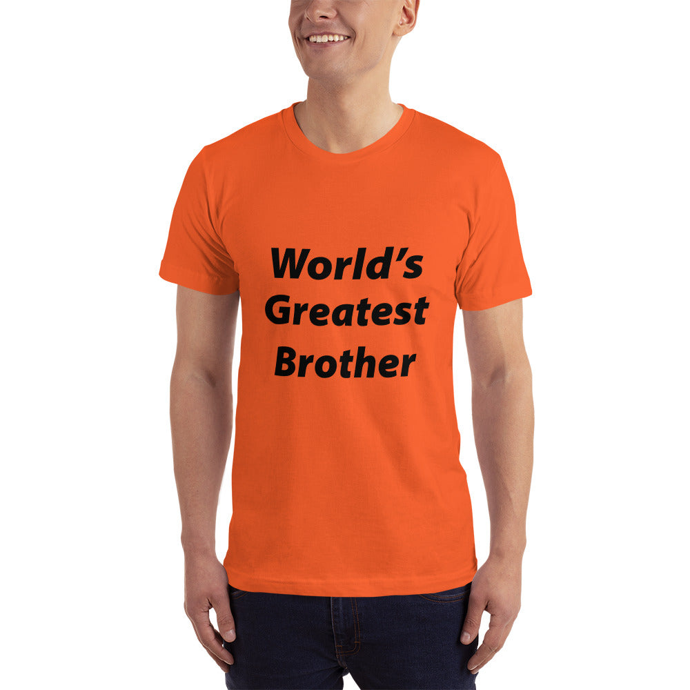 World's Greatest Brother Men's T-Shirt.  Only at MrShazz.com.