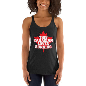 This Canadian Loves Running Women's Racerback Tank Top