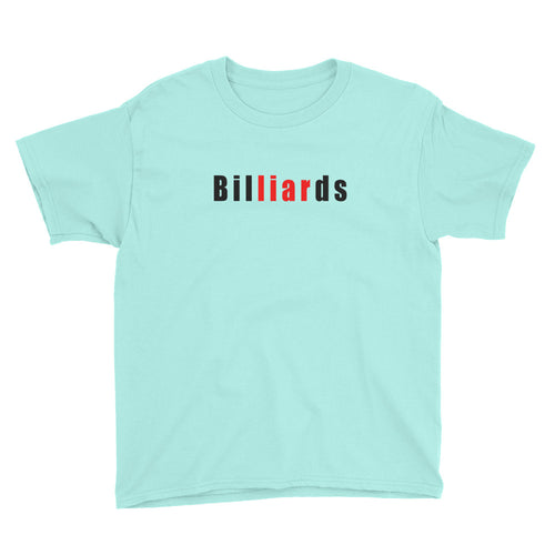 Billiards Youth Short Sleeve T-Shirt Pool Gift
