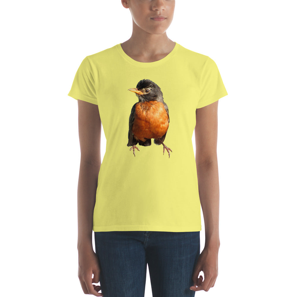 Bob the Robin Redbreast Ladies' T-shirt Many Colors and Sizes