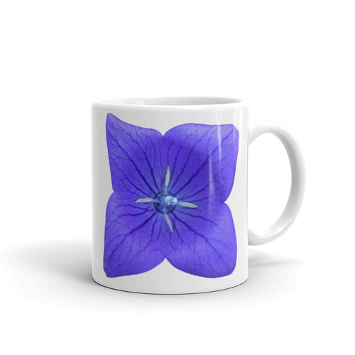 Blue Balloon Flower Mug - Mr. Shazz