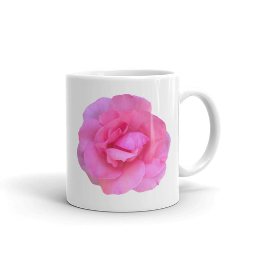 Pink Rose Coffee Mug Two Sizes for the Coffee Drinker who wants to wake up to beauty - Mr. Shazz