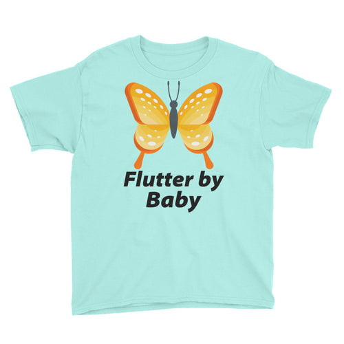 Flutter By Baby Butterfly Cute Youth Short Sleeve T-Shirt Funny and Cute
