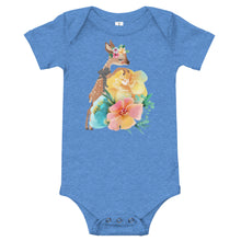 Baby Deer Fawn and Pastel Flowers Baby One Piece T-Shirt