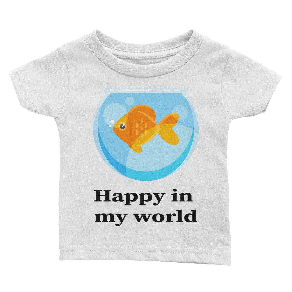 Happy in my World with Goldfish cute Infant Tee