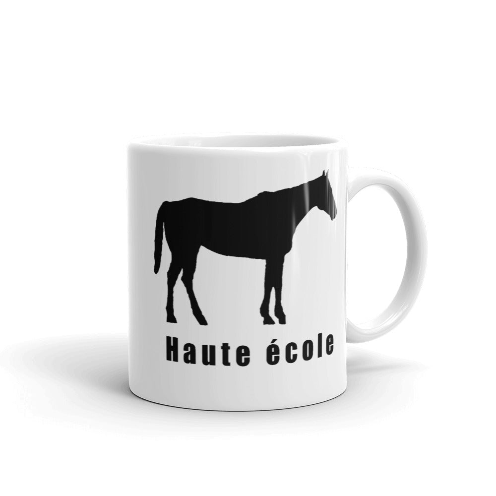 Haute Ecole coffee mug.   Only at MrShazz.com.  Also available in styles for men, women and children.