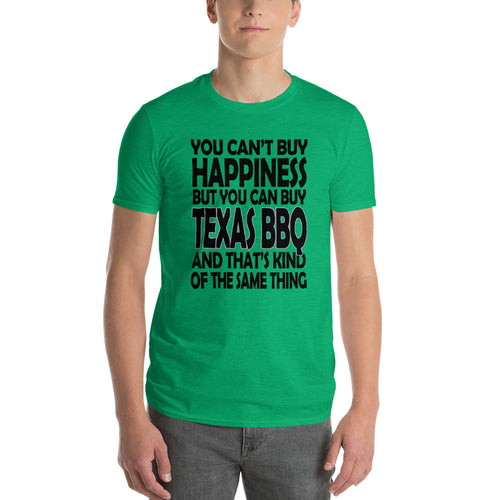 You Can't Buy Happiness, but You Can Buy Texas BBQ Men's Short-Sleeve T-Shirt Guy's