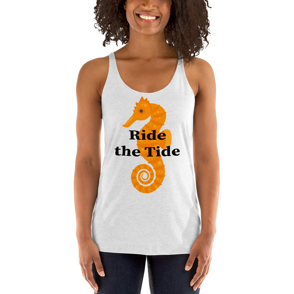 Ride the Tide Women's Tank Top with Seahorse