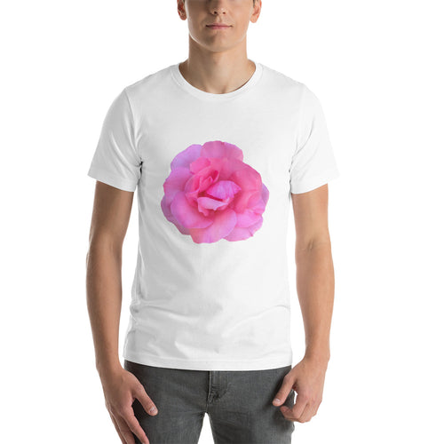 Lovely Pink Rose Short-Sleeve Unisex T-Shirt Many colors and sizes - Mr. Shazz