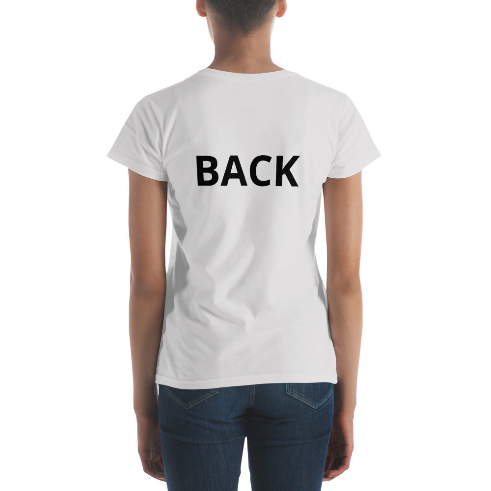 Funny T-shirt with Front on the front and Back on the back.  In men's, ladies', unisex, youth, and infant clothing.