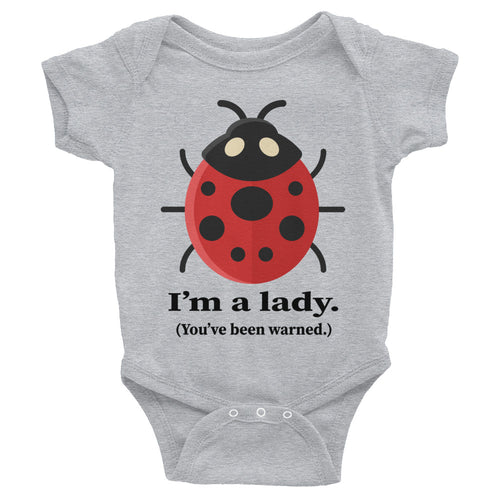 I'm a Lady Ladybug Cute Infant Bodysuit