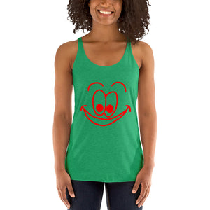 Smiling Face Women's Racerback Tank Top