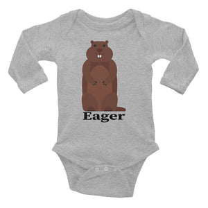 Eager Beaver Infant Long Sleeve Bodysuit