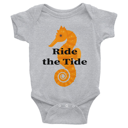 Seahorse with Ride the Tide Infant Bodysuit