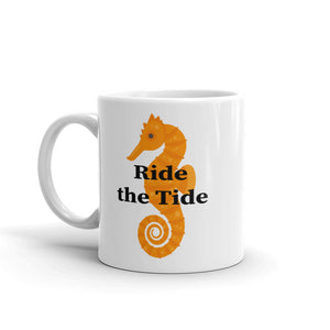 Seahorse with Ride the Tide Mug