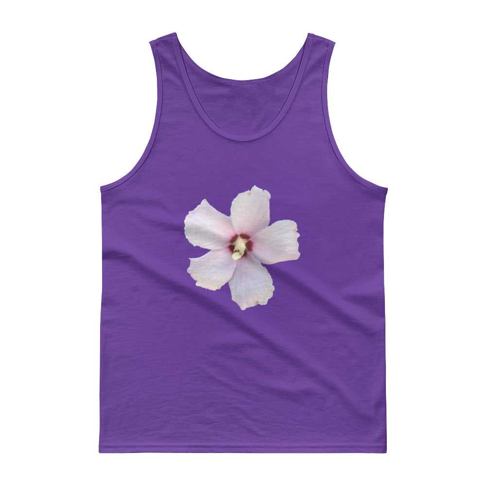 Rose of Sharon Men's Tank Top Hibiscus flower Many Colors, Sizes, and Styles for men, women and children.  And mugs also.