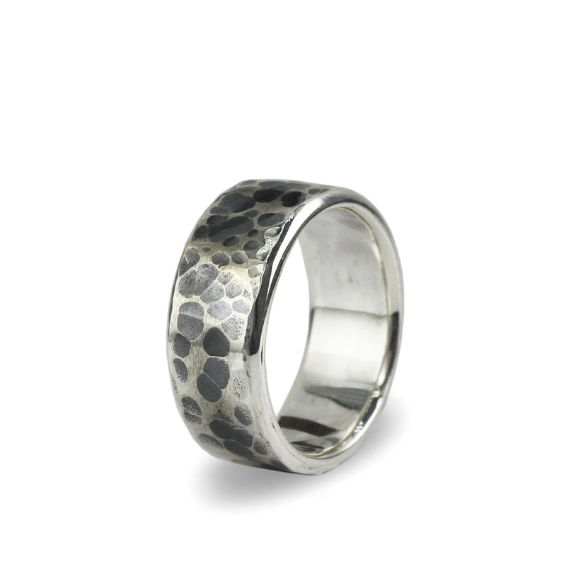 "Bague ""Hammered"""