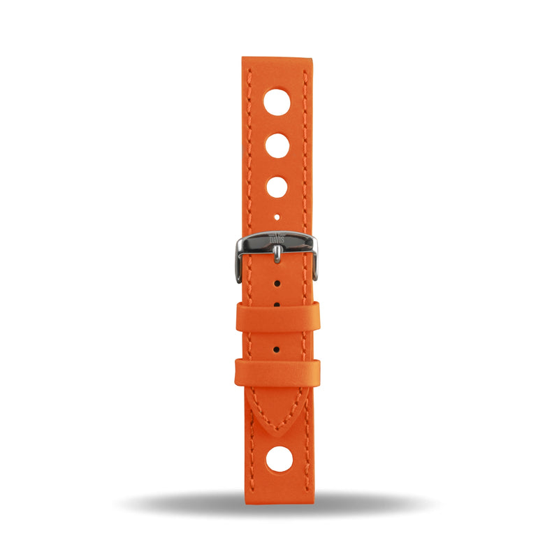 22mm Bracelet Montre Cuir Racing Orange B0323