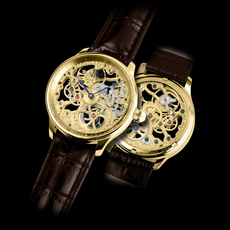 Montre Squelette - Skeleton Or