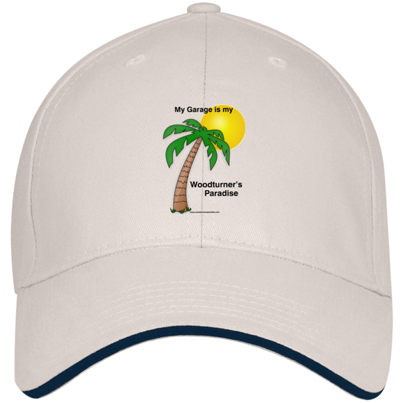My Garage Woodturner's Paradise Bayside USA Made Structured Twill Cap With Sandwich Visor