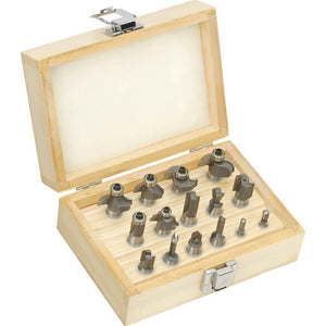 "15 pc. Router Bit Set 1/2"" Shank"