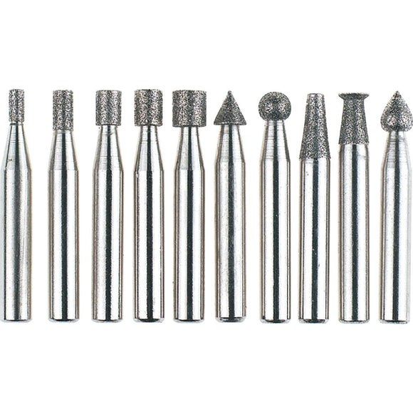 Diamond Burr, 10 pc. Set 1/4