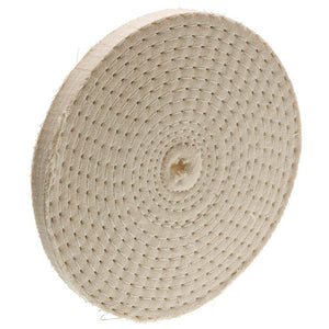 "4"" x 40 Ply x 1/4"" Spiral Sewn Buffing Wheel, 5000 RPM"