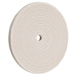 "6"" x 30 Ply x 1/2"" Spiral Sewn Buffing Wheel, 4000 RPM"