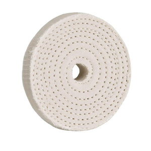 "3"" x 40 Ply x 1/2"" Spiral Sewn Buffing Wheel, 5000 RPM"