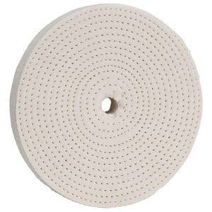 "6"" x 60 Ply x 1/2"" Spiral Sewn Buffing Wheel, 4000 RPM"