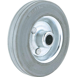 "4"" Gray Rubber Tire with Roller Bearing Hub"