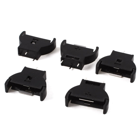 5 Pcs Black Plastic CR2032 3V Cell Coin Battery Socket Holder