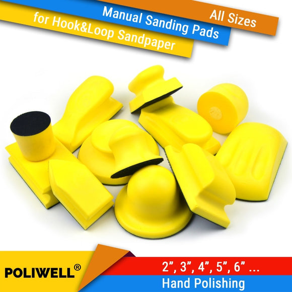 All Sizes Hand Hook & Loop Back-up Sanding Pads for Abrasives Sandpaper Sanding Discs for Woodworking Manual Polishing Tools