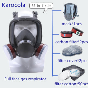 Fire Respirators Anti-dust Respirator Mask Filter Industrial Paint Spraying Protective Facepiece Fire Protection