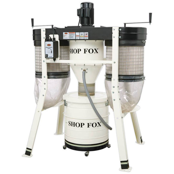 SHOP FOX® 3 HP Low Profile Cyclone Dust Collector