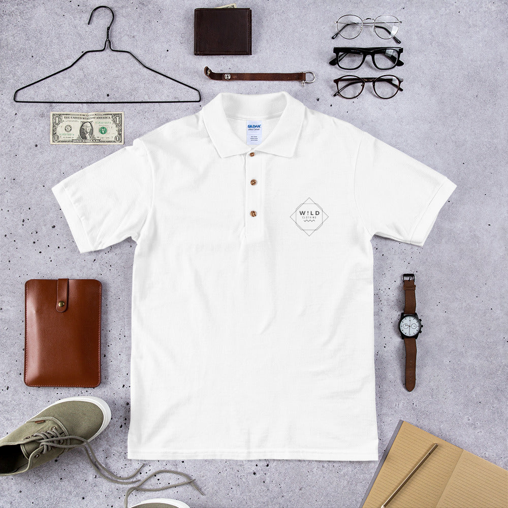 Wear Wild Embroidered Polo Shirt